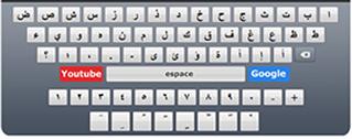 Arabic keyboard, write arabic alphabet with arabic keyboard